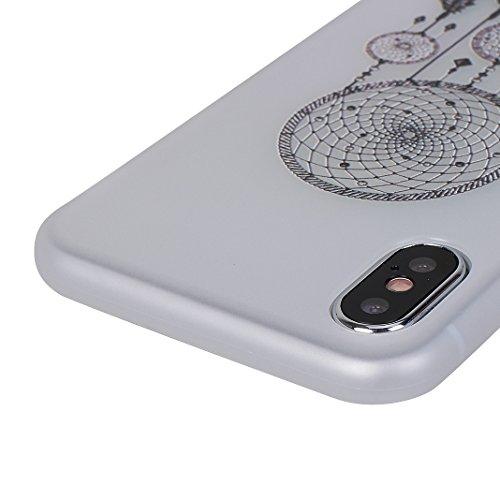 Cover Soft per iPhone X, Asnlove Morbida Elegante Caso Ultra Sottile TPU Gomma Gel Custodia Motif di Colore Cassa Antiurto Silicone Trasparente Case Posteriore Per iPhone X, Colore-5 Gruppo-2