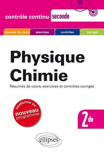 Physique Chimie Seconde Nouveau Programme