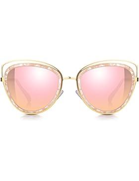 Sunglass Junkie Occhiali da sole maxi delle donne di occhio di gatto. Occhiali UV400 protezione UV 100% e braccia...