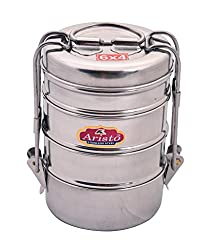 Aristo Tiffin 6x4 Stainless Steel Lunch Box