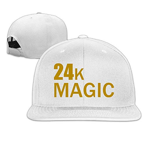 Unisex Bruno Mars 24k Magic Adjustable Snapback Baseball Hat Black One Size (Bruno Mars Hat)
