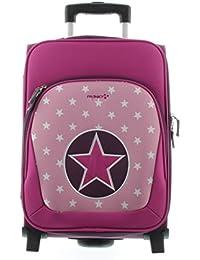 Franky Kindertrolley Kinderkoffer KT2 Sterne-Pink
