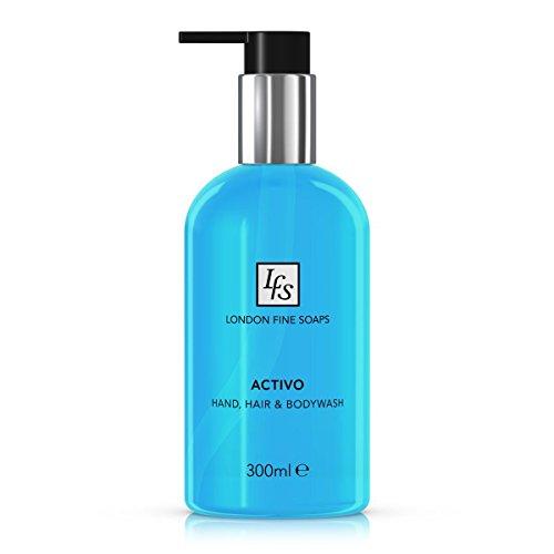london-fine-soaps-byr205-03-activo-capelli-e-corpo-lavare-a-mano-300-ml-confezione-da-6
