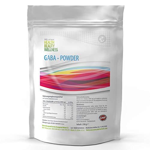 Powder Pack (GABA POWDER | 250g Big Pack - 100% Ohne Zusätze | Reines Gamma Amino Buttersäure Pulver | Aminosäuren | HGH - Wachstumshormon-Ausschüttung | Muskelaufbau Regeneration verbessert Schlaf-Qualität)