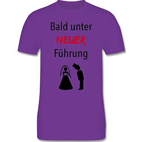 JGA Junggesellenabschied - Bald unter neuer Führung - Herren Premium T-Shirt Lila