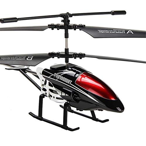 ZGifts Remote Control Helicopter 3,5 Channel with Gyro LED Light-hobby RC Radio Alloy Flat Toy Resistance Crash for Children Indoor Outdoor Christmas, Black