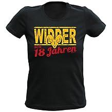 T-Shirt Schwarz Widder 18 Jahre