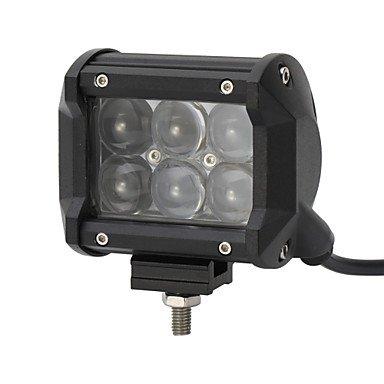 4x 30w a mené la lumière de travail bar offroad 12v 24v atv offroad place pour le camion 4x4 utv ( Couleur : Noir-12V )