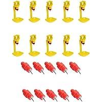 MagiDeal 20 Piezas Agua Bebedero de 360 Grados en Aves de Corral Pollo Gallina Bebedor de Pato
