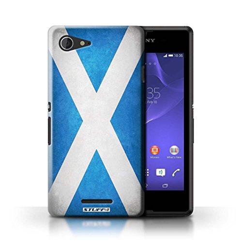 Kobalt® Imprimé Etui / Coque pour Sony Xperia E3 / Portugal/portugais conception / Série Drapeau Écosse/écossais