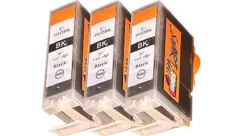 Start - 3 x kompatible CHIP Patrone - Black (groß)