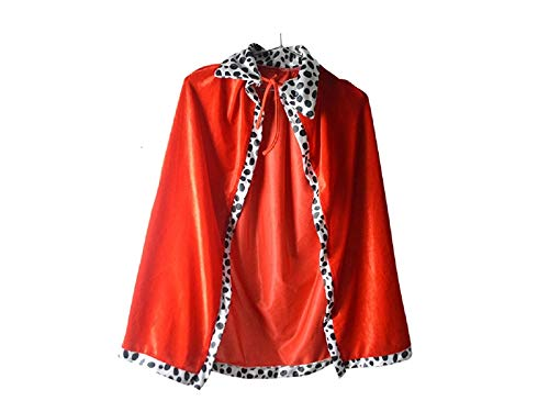AGOPO Kunsthandwerk Halloween Weihnachten Kostüme Mantel Kinder König Cape für Masquerade Cosplay (rot) für Karneval