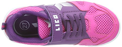 Lico Sport Vs, Chaussures de Fitness Fille Rose (Pink/Lila/Weiss)