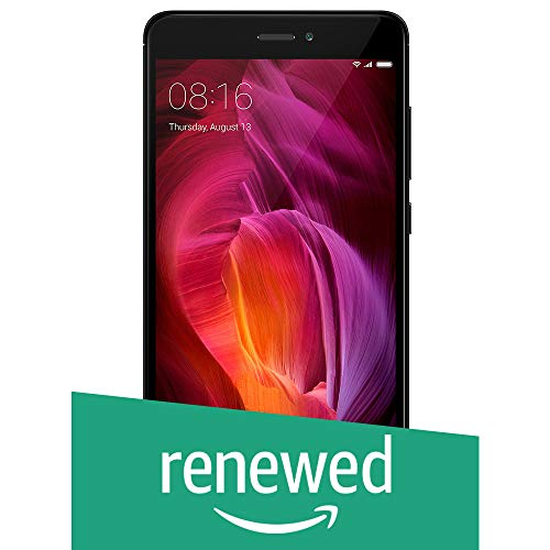 Renewed  Redmi Note 4  Black, 64 GB  Smartphones