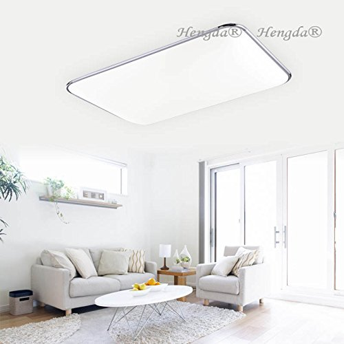 Preisvergleich Produktbild HengdaR 96W LED Deckenleuchte Kchen Badleuchte Wohnzimmer 8640LM Weiss IP44 Badezimmer Geeignet