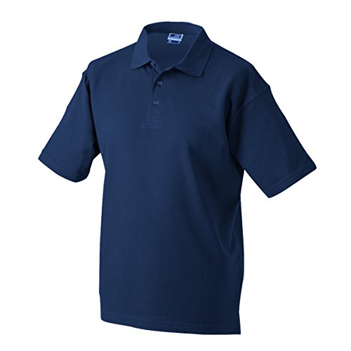 JAMES & NICHOLSON -  Polo  - Basic - Con bottoni  - Maniche corte  - Uomo blu navy