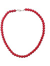 Collier de 45 cm composé de Corail rouge en perle de 8mm