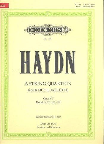 The 6 String Quartets Op.64 (Full Score & Parts) Musique d'Ensemble