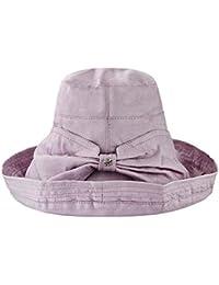 Moda Mujer Pesca Sombrero Sol Sombrero Borde Ancho Cubo Cubo Sombrero  Clásico Plegable De Verano con 43523726d6c