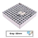 XuBa Profi-Billardqueue-Spitzen, Grau, 100 Stück, gray/10 mm