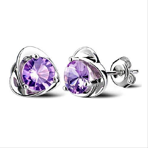 KBWL Orecchini Nuovi orecchini con zirconi cubici Per donna Stile casual Orecchini con zirconi personalizzati Gioielli in argento sterlingB85