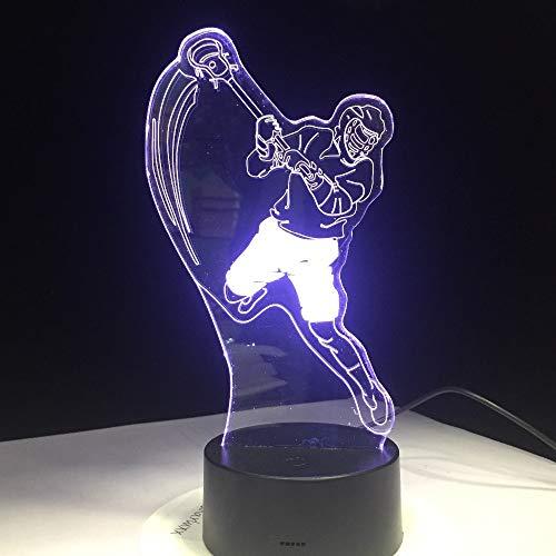 Lampada da tavolo da modellistica sportiva per hockey su ghiaccio, cambio di colore, luce notturna, camera da letto, illuminazione per il sonno, illuminazione per tifosi, decorazione per la cas