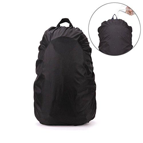 PIXNOR Wasserdichter Regenschutz Rucksack Cover Regenhüllen Regenabdeckung für Camping Wandern (schwarz)