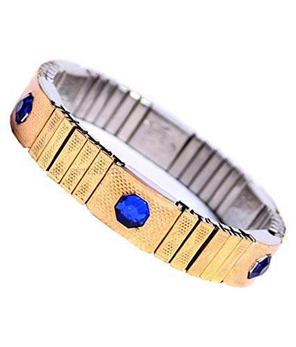 Blood Pressure Control Magnetic Bracelet Bp Monitor (Golden) for Men Women and Teens by Rudra Divine with 100% Original high Quality Magnet