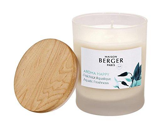 PARFUM BERGER Aroma Duftkerze, Glas, Weiß, 7,45 x 7,45 x 9,7 cm -