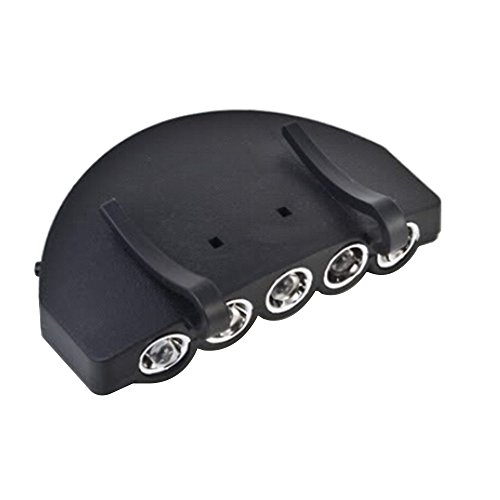 Gemini _ Mall® 5LED Cap Lampe Clip auf Gap Hat Light Taschenlampe Visor Licht Kopflampe Hände frei ideal für Camping Wandern Joggen Lesen Arbeiten Angeln Visor Clip Light