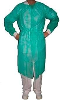 Bata protección puño tricotado esteril verde ...