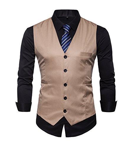 AYG Chalecos adaptarse adelgazan juego formal chaqueta