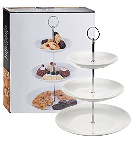 3 Tier Ceramic Cake Stand Porcelain Serving