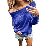 Women Ladies Winter Hoodies Coats Sweatshirt Sweater Top Grey Signore delle donne di inverno Felpe Giacche Cappotti Felpa maglione ponticello top (Blu,L)