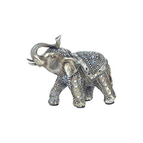 CAPRILO Figura Decorativa de Resina Elefante Étnico con Pedrería. Adornos y Esculturas....
