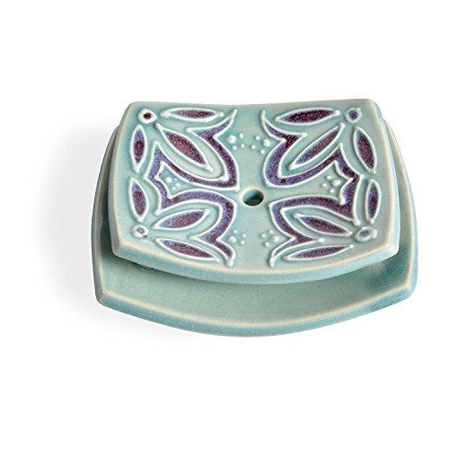 AshenWren Ceramics Tiered Seifenschale, Teal Blau Teal Blau Tiered Slip