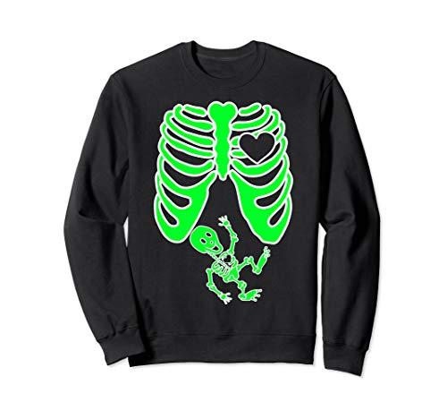 Mit Kostüm Lustige Baby Familien - Schwangere Röntgen-Skelett Baby Kostüm Mutter Halloween Sweatshirt