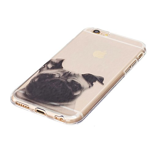 Custodia iPhone 6, iPhone 6S Cover Silicone, SainCat Cover per iPhone 6/6S Custodia Silicone Morbido, Ultra Slim Transparent Silicone Case Ultra Sottile Morbida Transparent TPU Gel Cover Case Shock-Ab Pago Cane