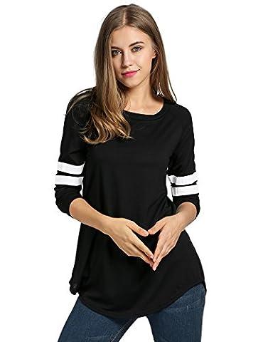 ZEARO Femmes Mode Baseball T-shirt Chemisier Top Blouse Sport de L'automne Manche Longue