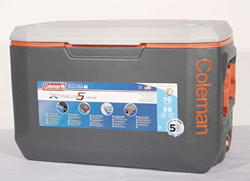 "Kühlbox Coleman ""Xtreme 5 Cooler 70 Qt\"" grau/orange (60Liter)"