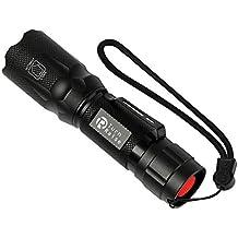TurnRaise Linterna LED Resistente al Agua Ultra Brillante Flashlight de 5 Modos para Ciclismo, Camping, Montañismo, Senderismo y las Actividades al aire libre