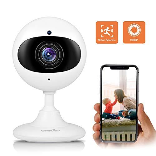 Wansview WLAN IP Kamera 1080P HD, Wireless Überwachungskamera als Baby, Ältere, Haustiere Monitor, mit Bewegungserkennung, Zwei-Wege Audio, Nachtsicht Funktion K3 Weiß Cloud Version 1080-hd-kamera