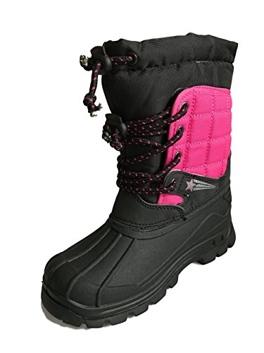 Boys Girls Kids Infant Snow Boots Winter Warm Fur Lined Wellington Mucker Size 8-2