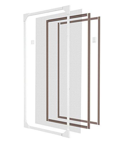 Style home® Magnet Kunststoff-Rahmen Fliegengitter Fenster Insektenschutz Mückengitter Neu (220 * 110, grau)