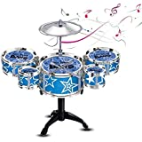 Blossom (Set Of 5 Drums) Mini Jazz Drum Percussion Instruments Set Kit Musical Toys With High Straight PVC Material Drumhead For Kids, Random Color