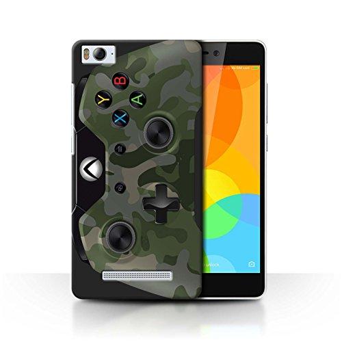 Stuff4® Hülle/Case für Xiaomi Mi 4i / Grün Tarnung Muster/Videogamer/Xbox One Kollektion