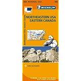 Carte Northeastern USA Eastern Canada Michelin