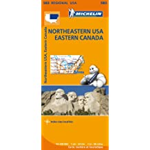 Carte Northeastern USA Eastern Canada Michelin