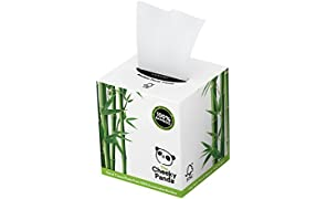 The Cheeky Panda 100 Percent Bamboo Facial Tissue Cube, Pack of 56 Tissues