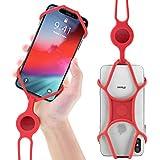 Lanière Tour de Cou de Téléphone Portable en Silicone, Étui Universel avec Cordon pour Smartphone iPhone XR XS Max X 8 7 Plus Samsung Galaxy S10 S9 S8 Note 9 - Rouge